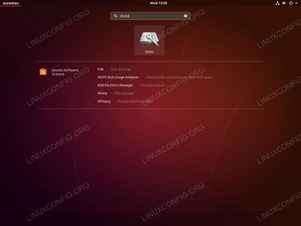 Start Disks check tool