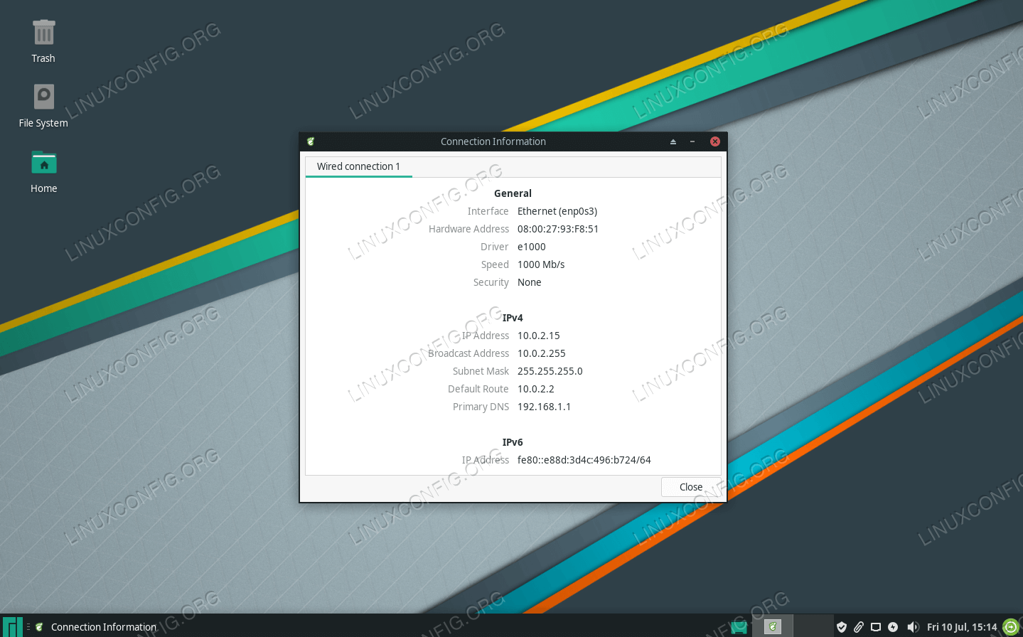 Configuring Network On Manjaro Linux Linuxconfig Org