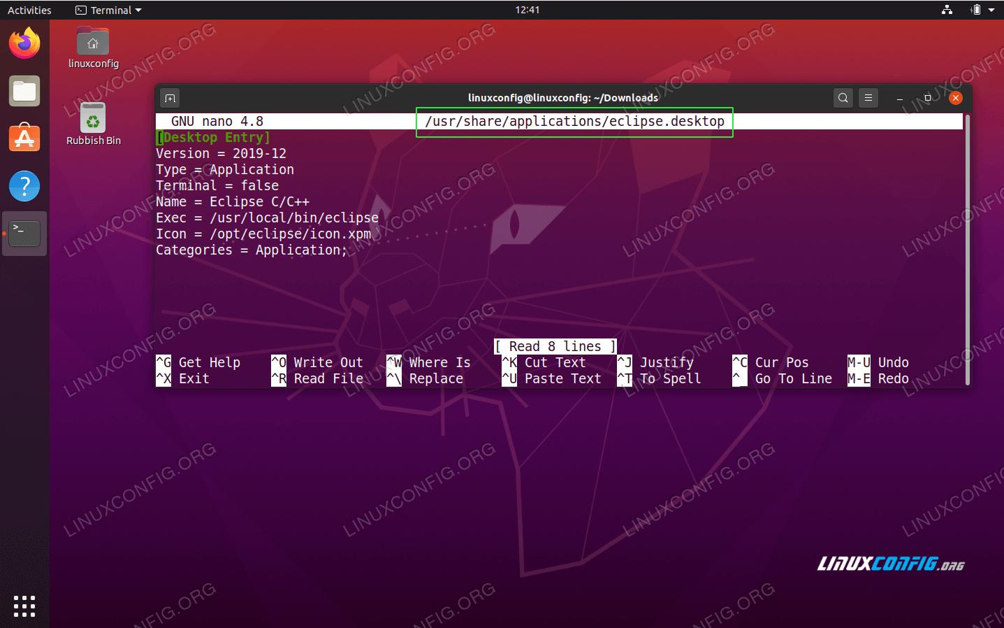 Creating Eclipse IDE desktop launcher