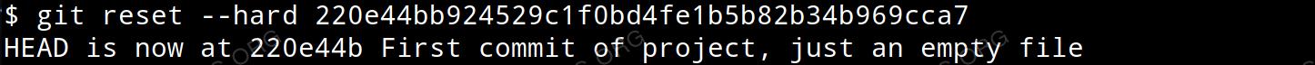 Revert commit using hard reset