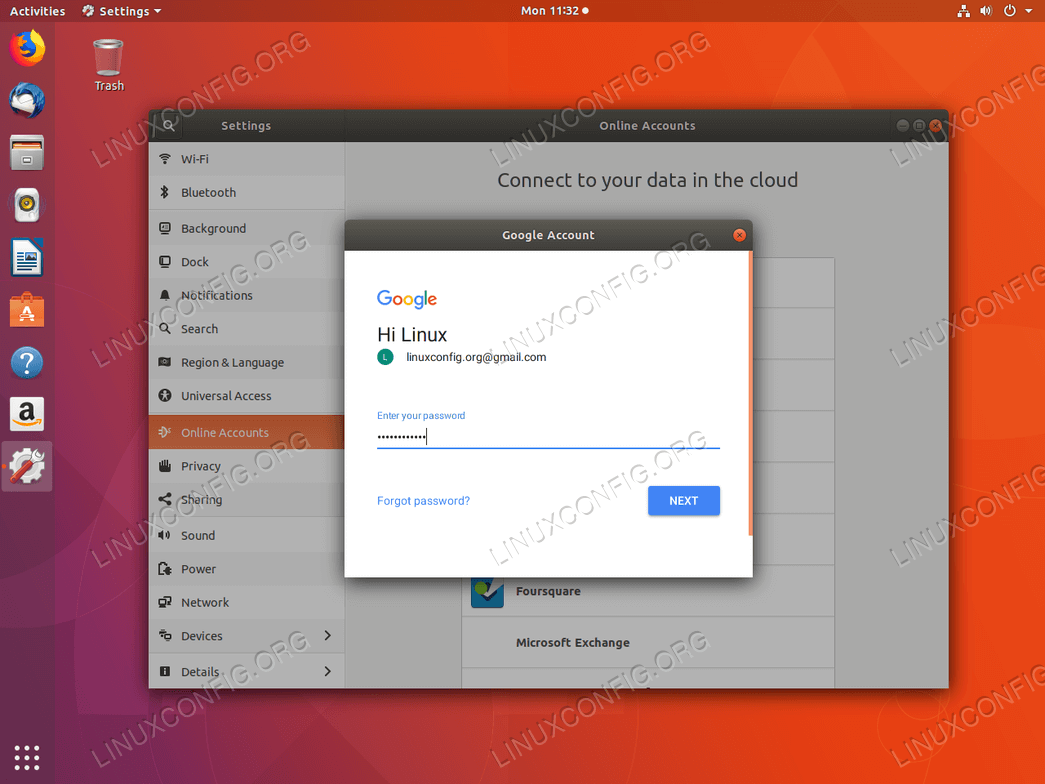 Google Drive Ubuntu 18.04 - Enter password