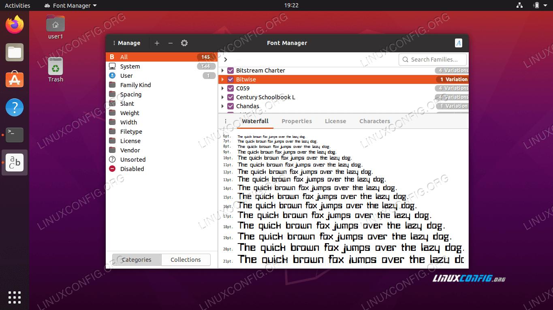 Installing new fonts on Ubuntu 20.04