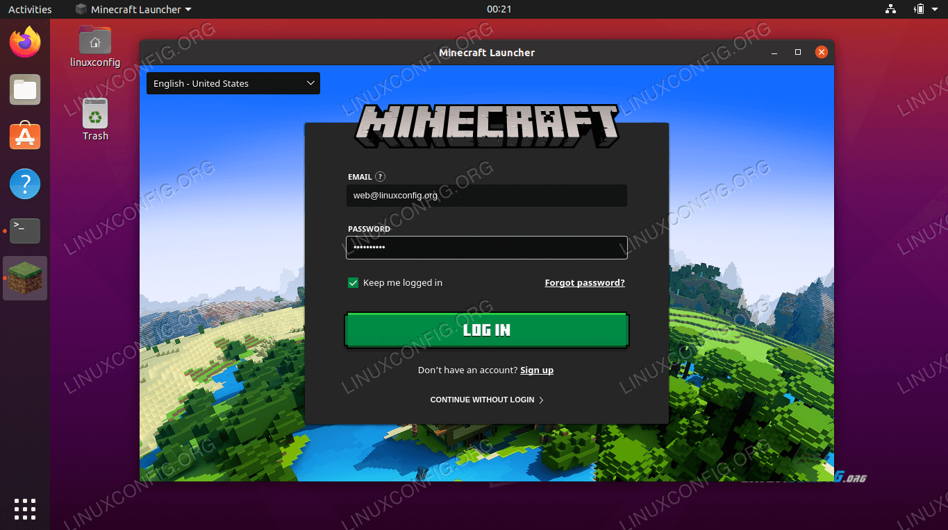 Login to Minecraft Launcher