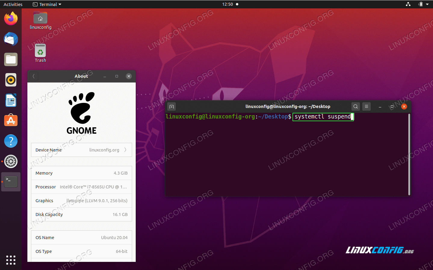 Suspend the Ubuntu system from command line