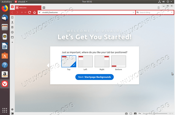 install Vivaldi Browser on Ubuntu 18.04 Bionic Beaver