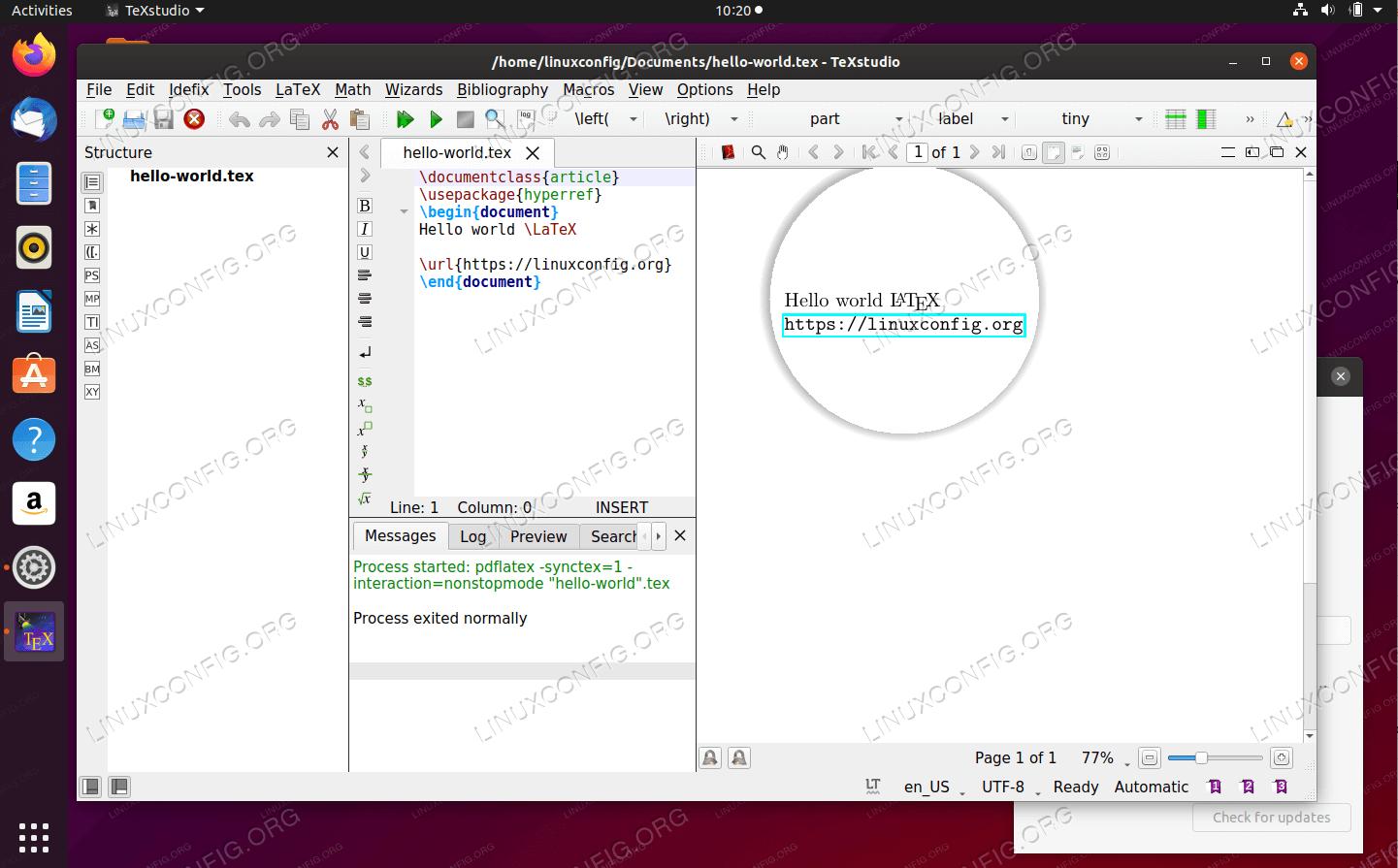 TeXstudio latex editor and compiler