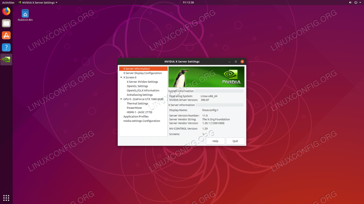 How to install the NVIDIA drivers on Ubuntu 18 10 Cosmic Cuttlefish