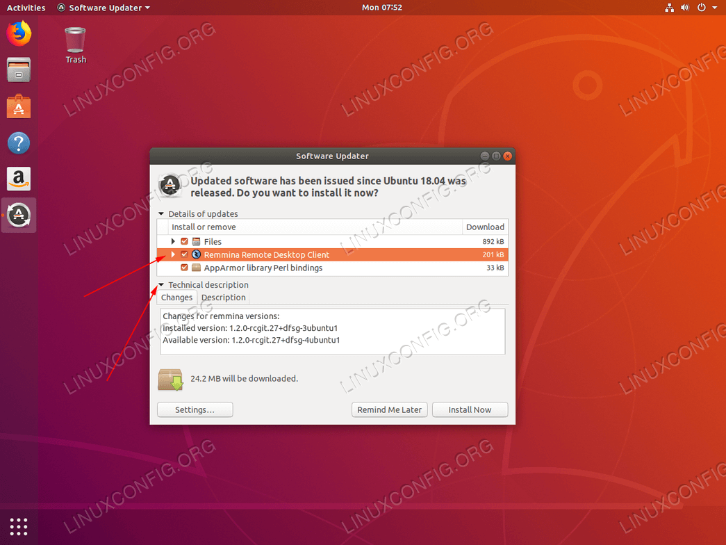 Ubuntu update - select or deselect individual packages scheduled for update