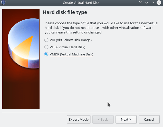select HDD type