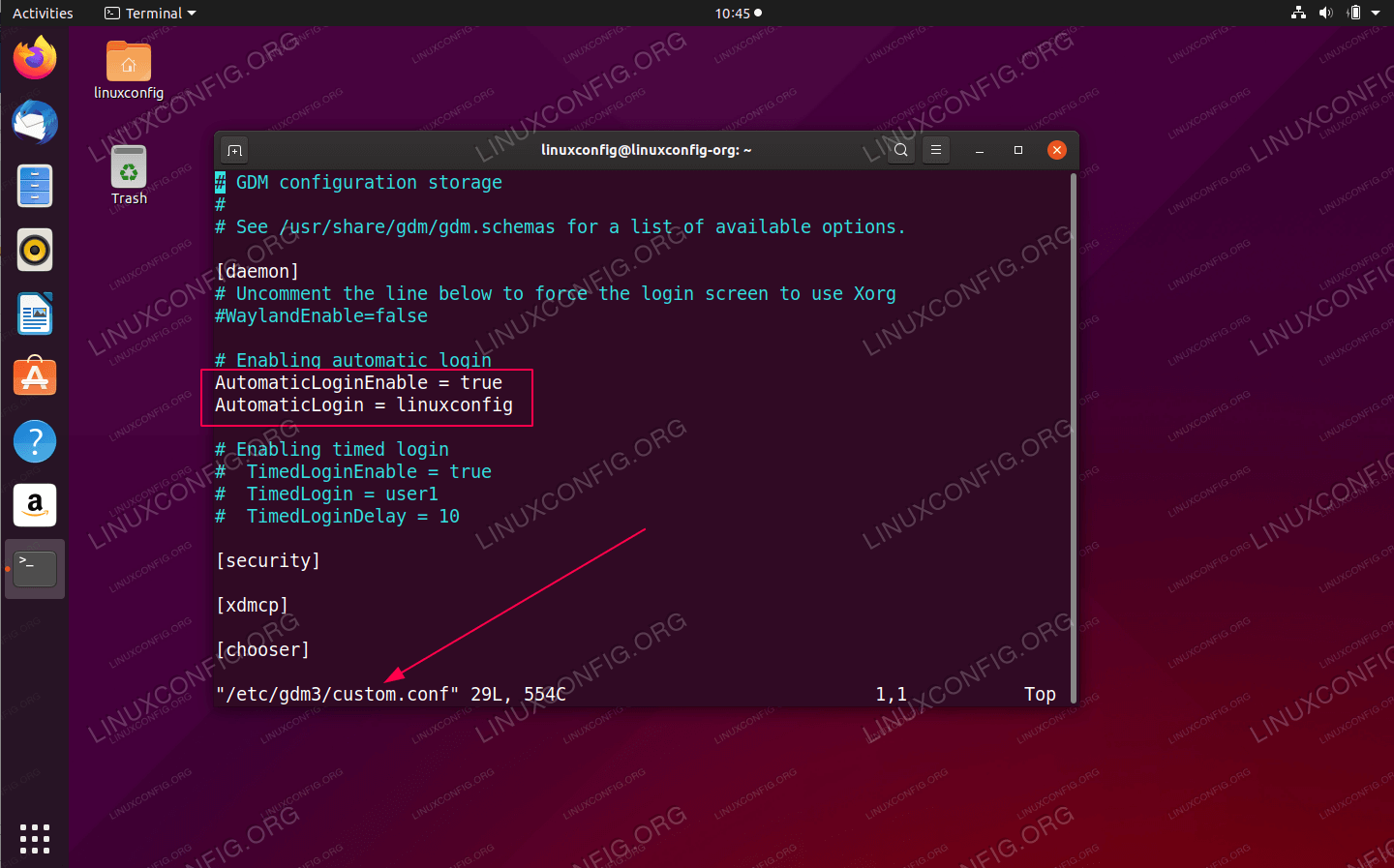 Enable Automatic Login on Ubuntu 20.04 Focal Fossa
