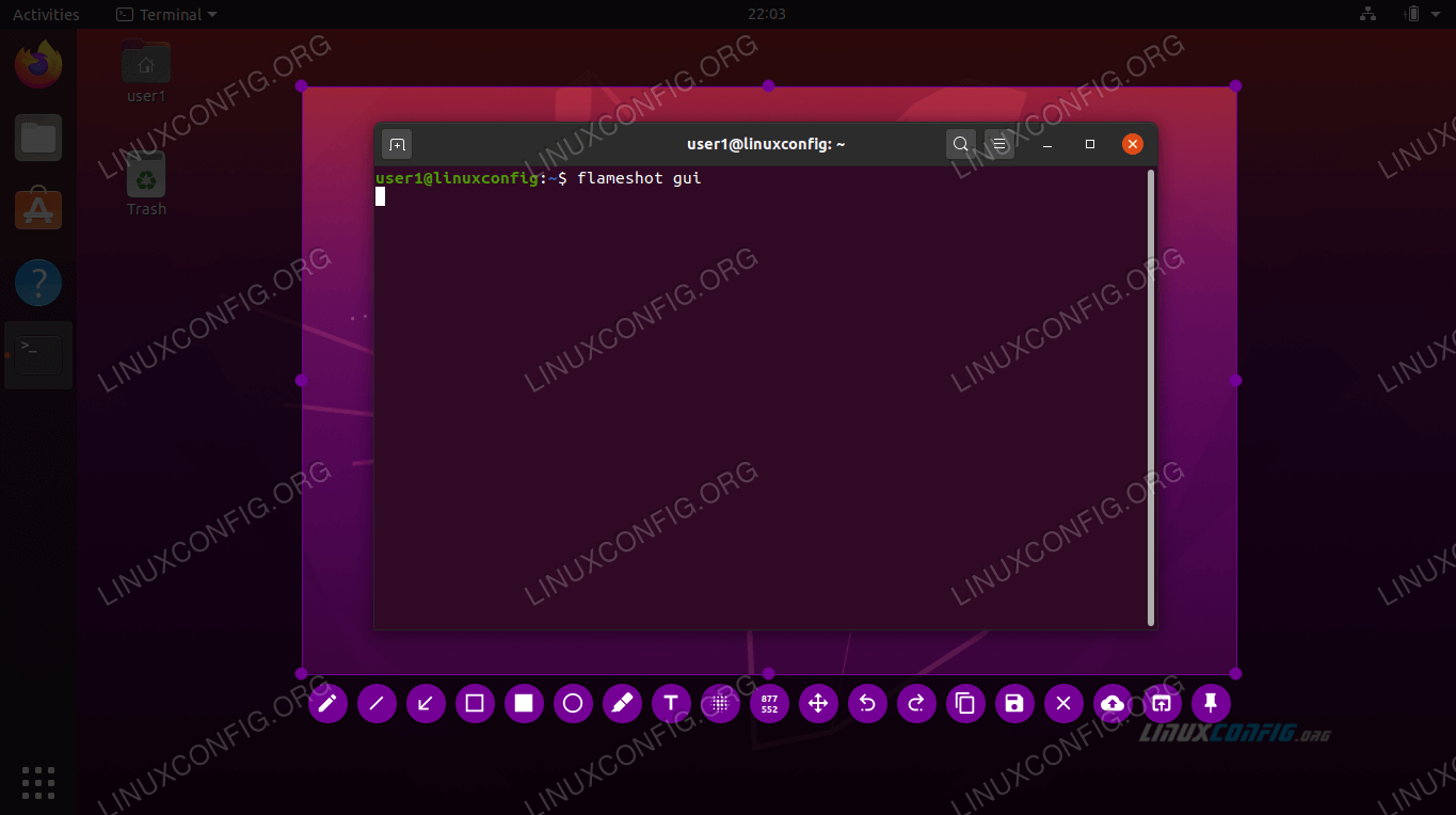 Taking a screenshot in Ubuntu 20.04
