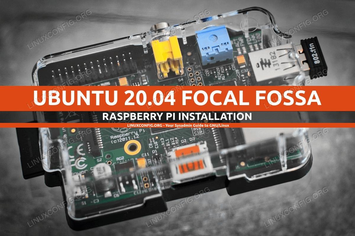 Install Ubuntu 20.04 on Raspberry Pi