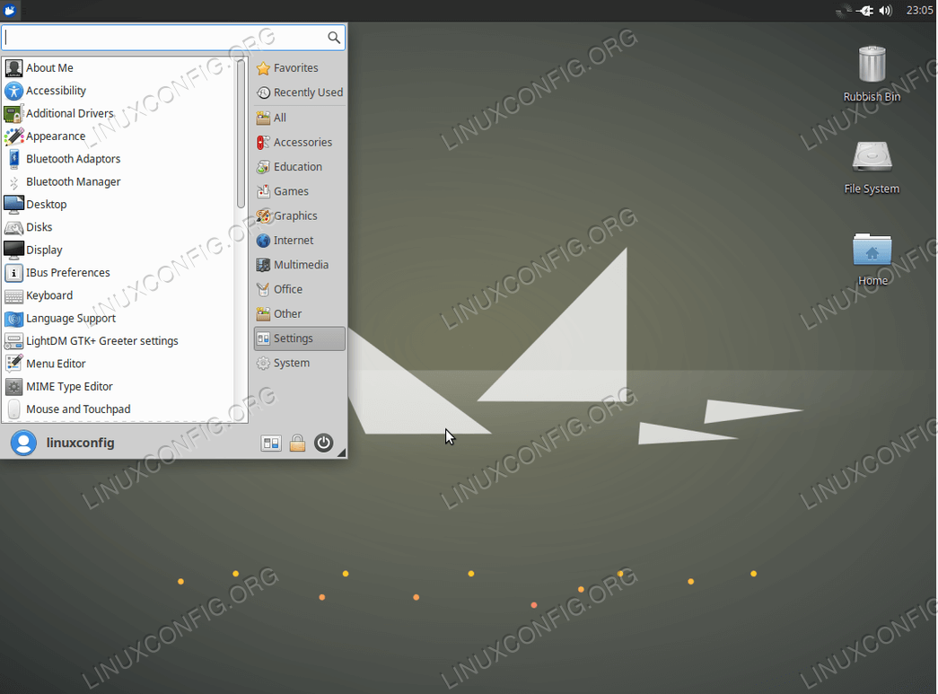 Xubuntu Desktop graphical user interface on Ubuntu 18.04 Bionic Beaver
