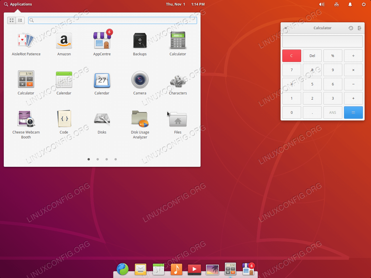 Pantheon Desktop graphical user environment on Ubuntu 18.04 Bionic Beaver