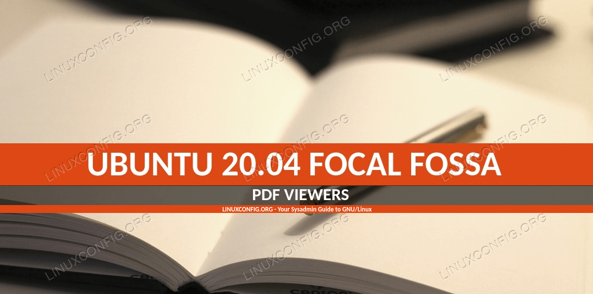 PDF viewer list on Ubuntu 20.04 Focal Fossa Linux