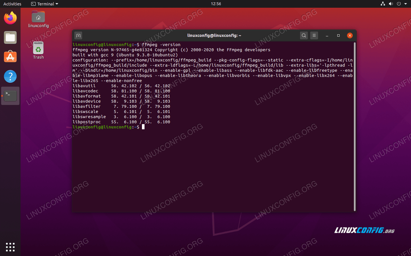 Viewing the version of FFmpeg, which is the newest one available