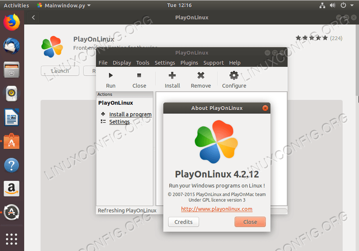 install PlayOnLinux on Ubuntu 18.04