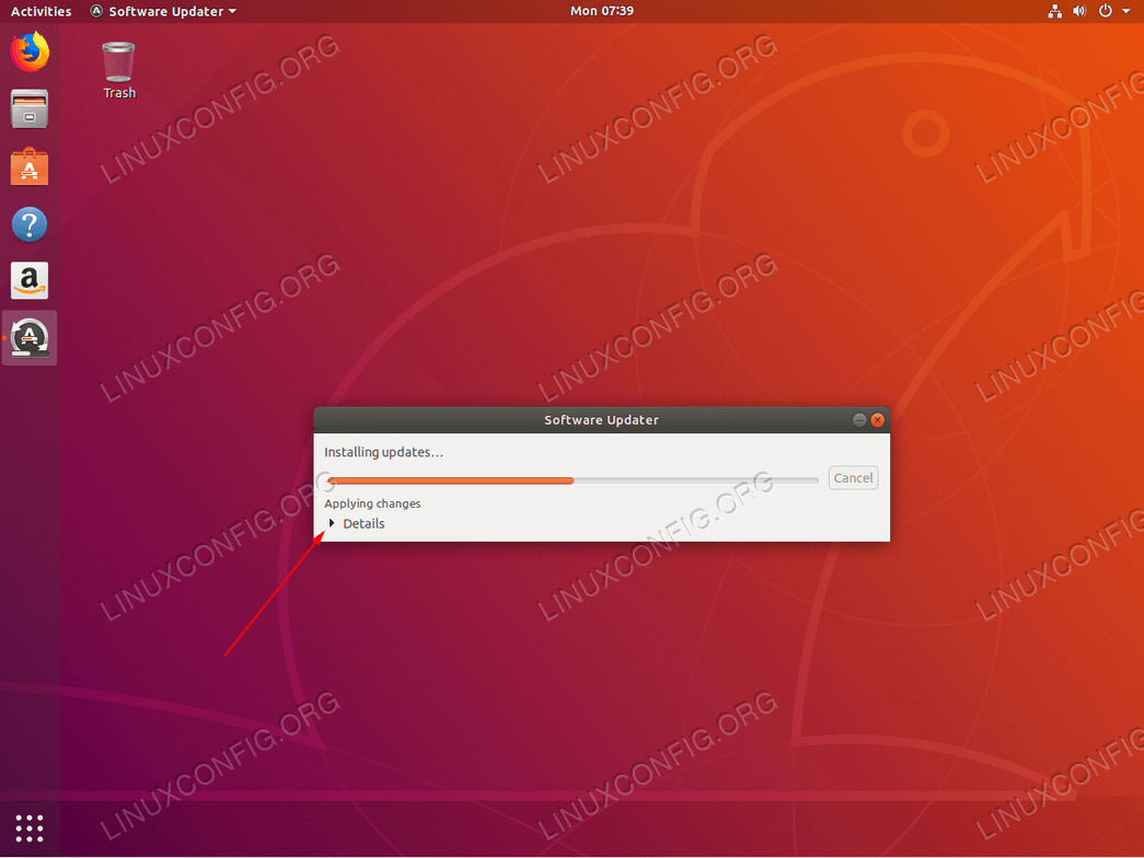 Ubuntu update - in progress