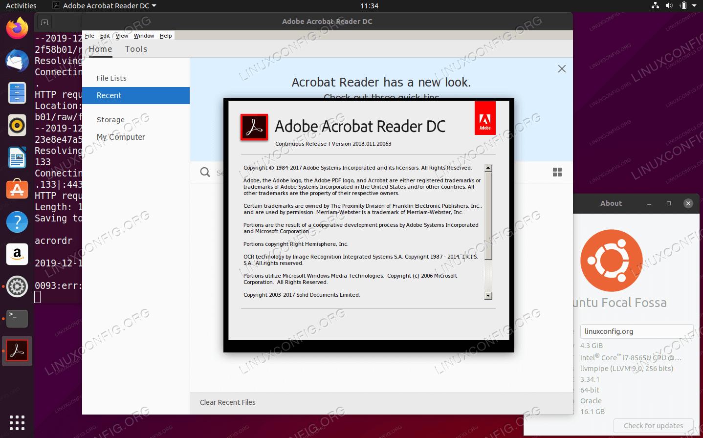 Adobe Acrobat Reader DC (WINE) on Ubuntu 20.04 Focal Fossa Linux