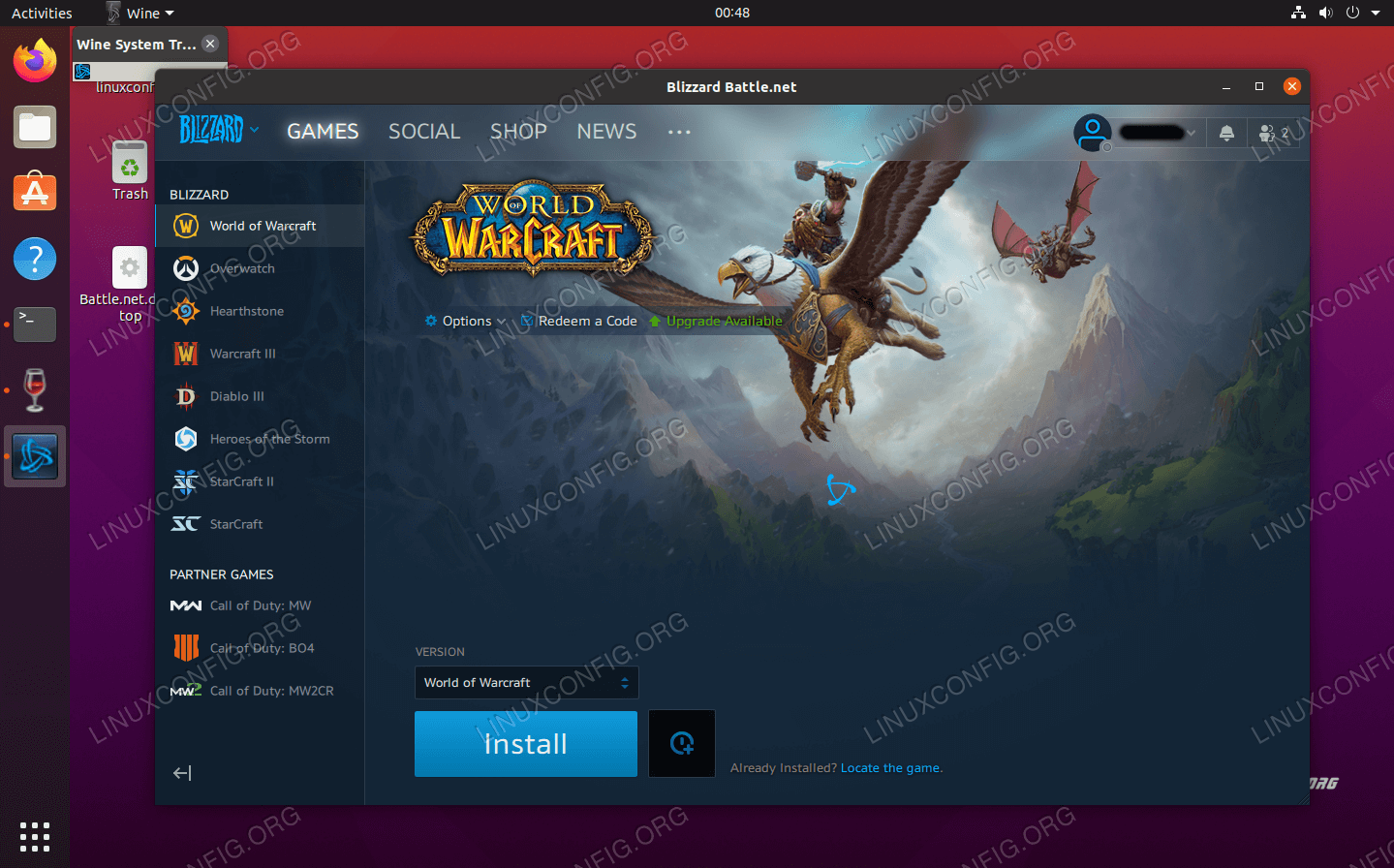 Running Battle.net on Ubuntu 20.04 Focal Fossa