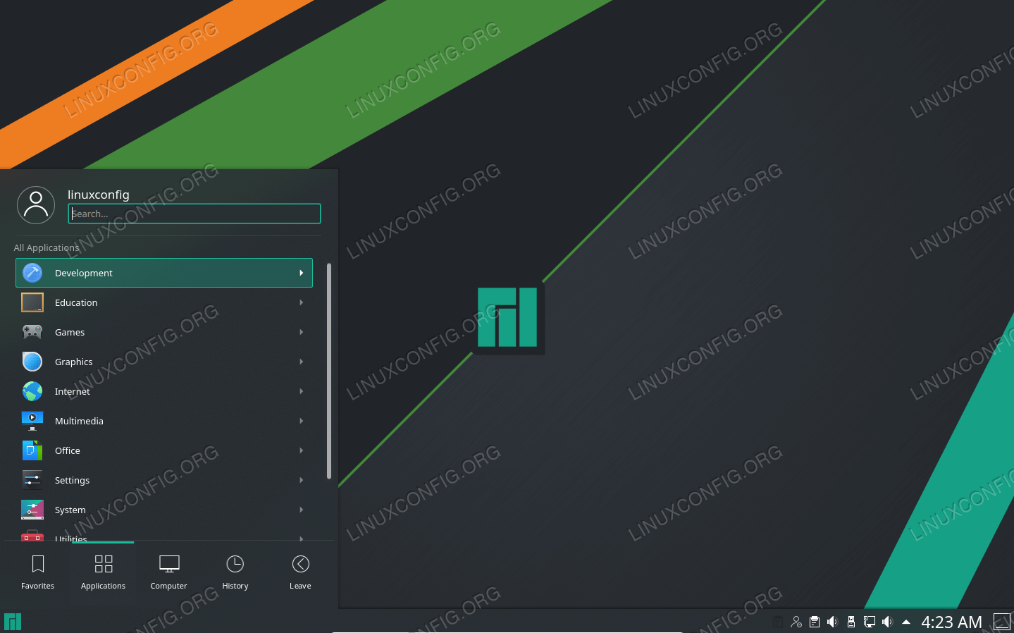 Manjaro with KDE Plasma desktop environment