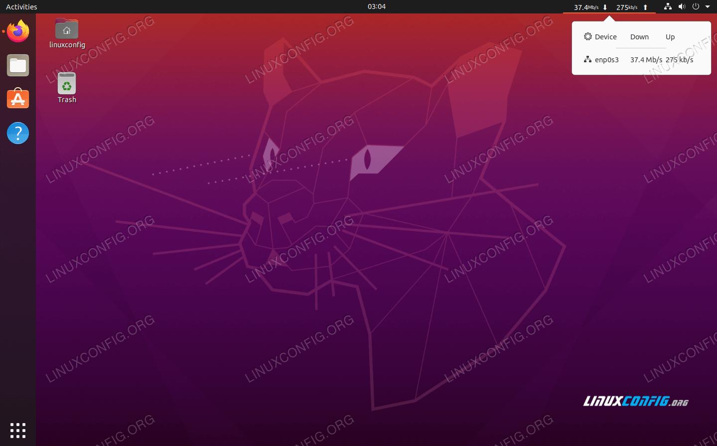 NetSpeed GNOME extension