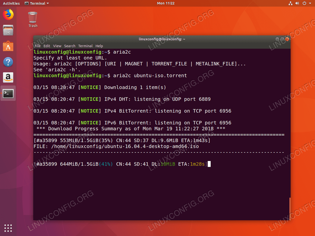 Torrent client for linux