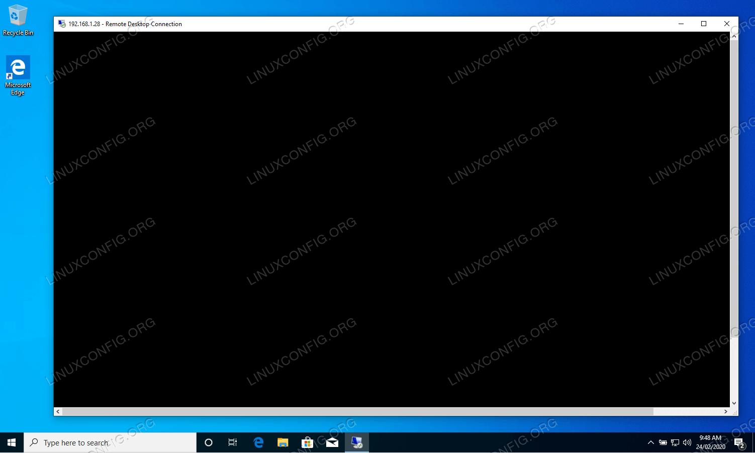 xrdp black screen bug