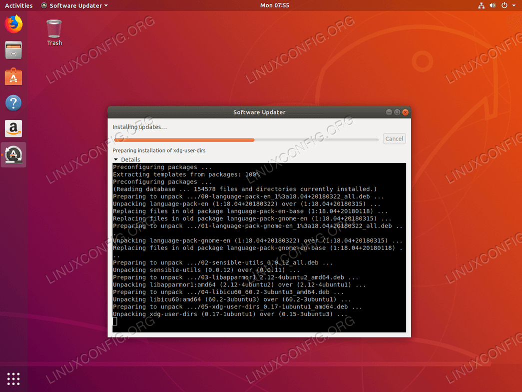 Ubuntu update - More detailed information
