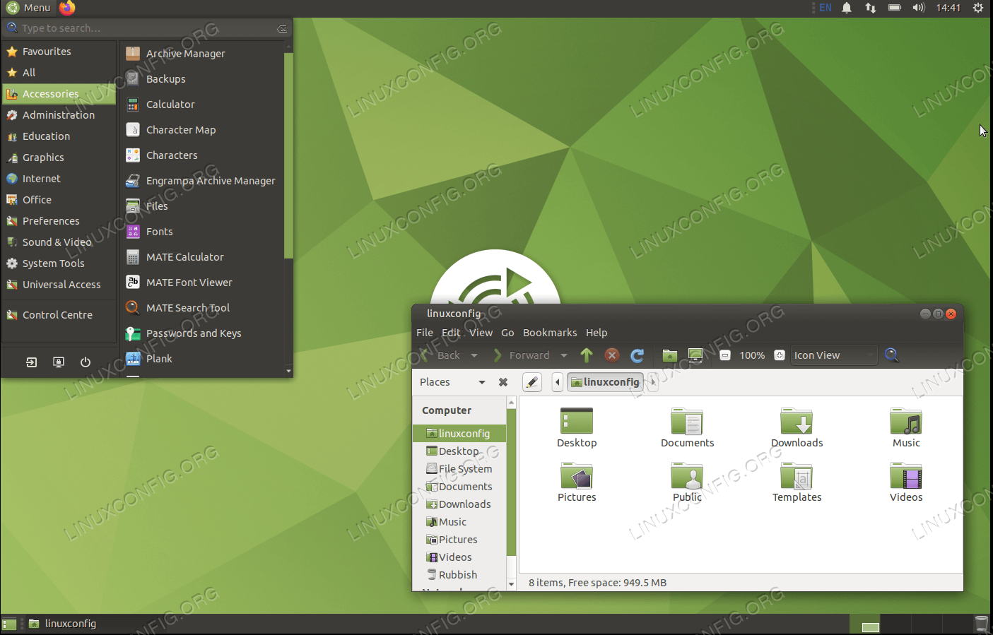 MATE desktop on Ubuntu 20.04 Focal Fossa Linux