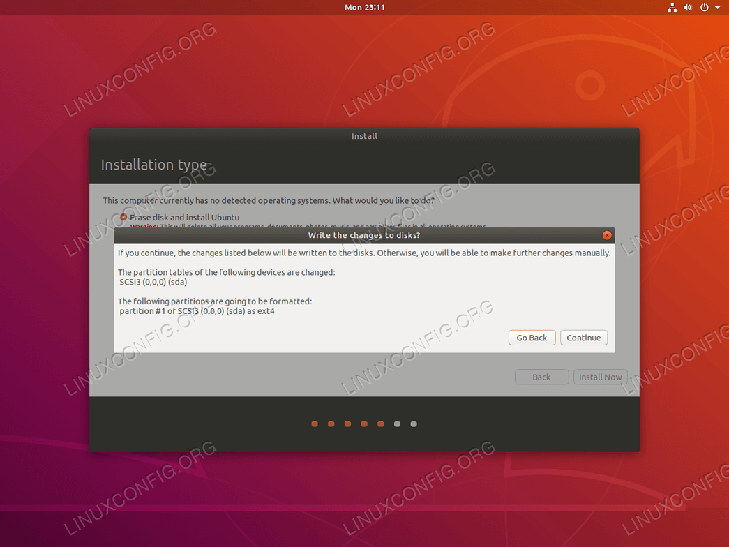 Confirm Ubuntu installation