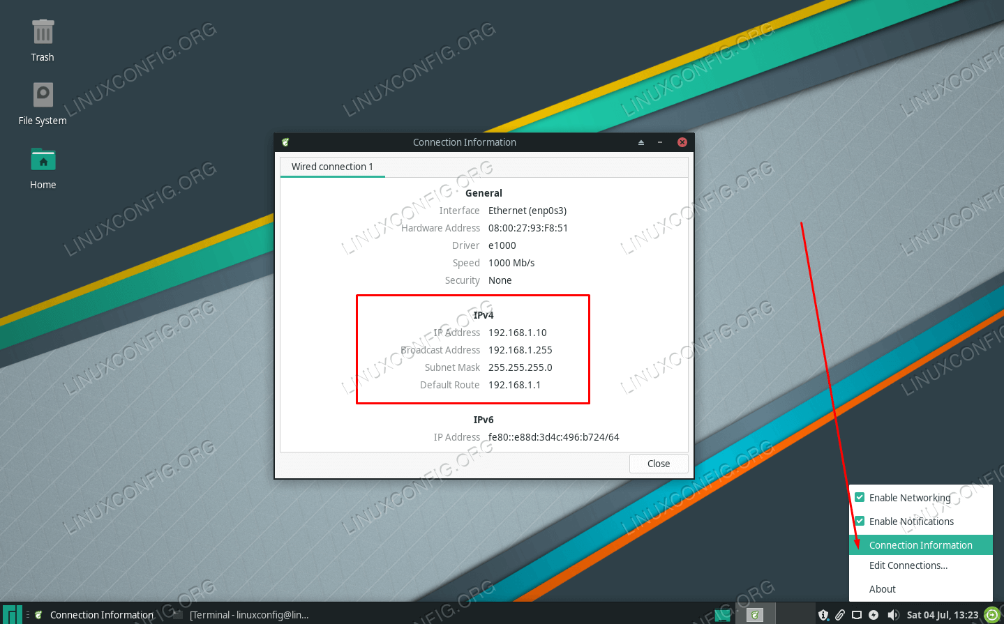 How to setup a static IP address on Manjaro Linux - LinuxConfig.org