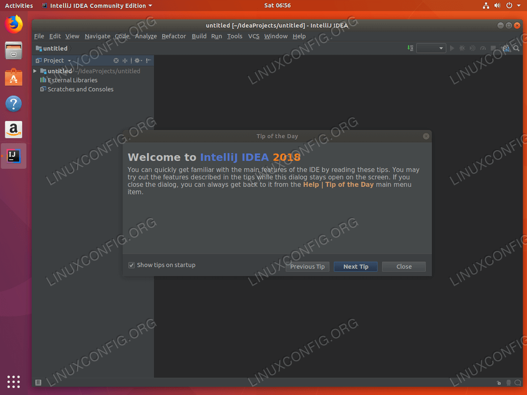 Install IntelliJ ubuntu 18.04