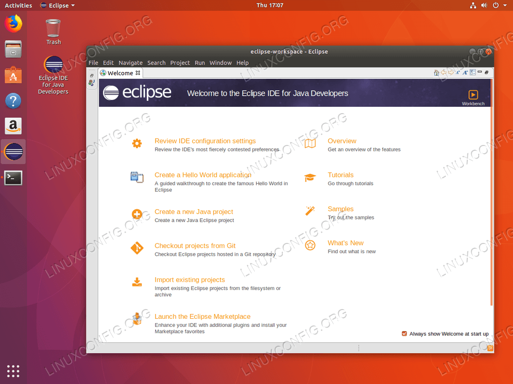 Eclipse IDE shortcut on Ubuntu 18.04 Gnome Desktop
