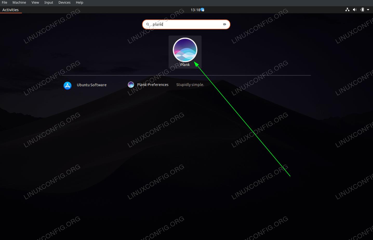 Start Plank application on Ubuntu 20.04 Gnome Desktop