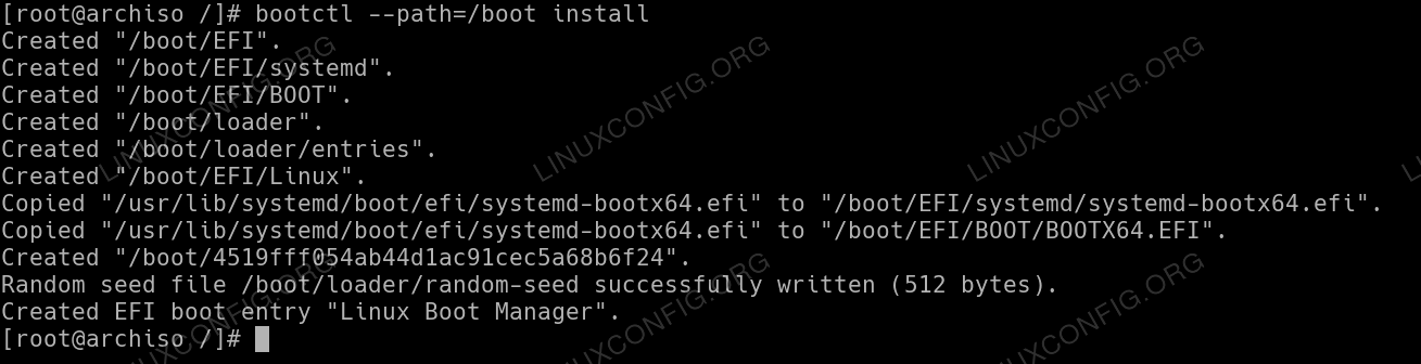 system-boot installation