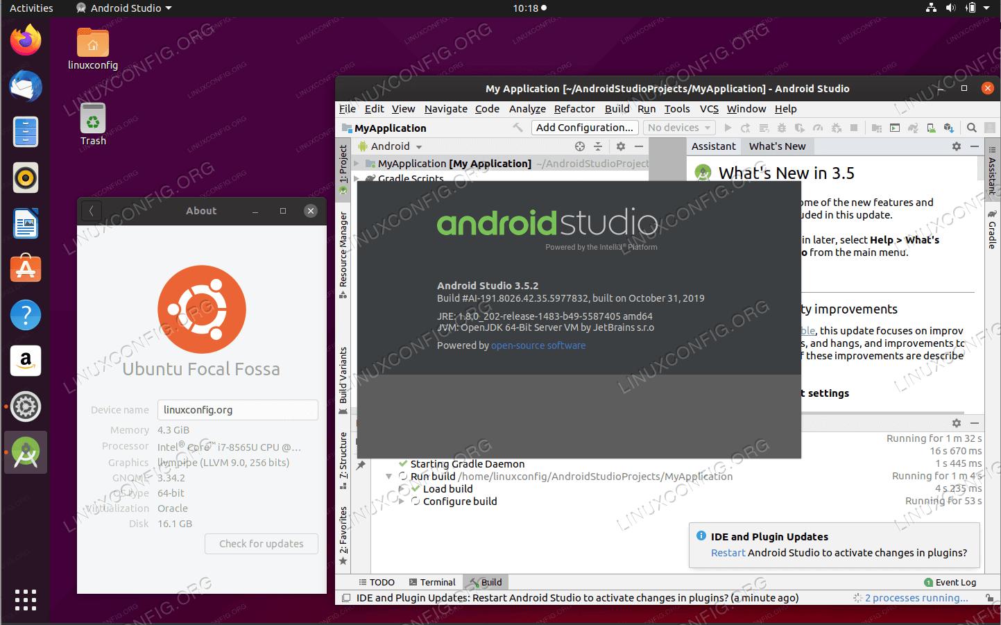 Android Studio on Ubuntu 20.04 Focal Fossa Linux
