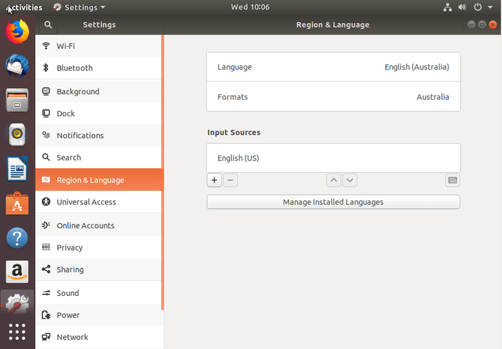manage language settings