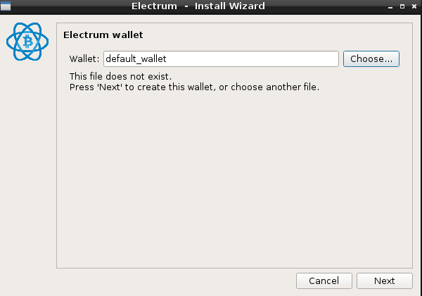 Choose wallet name