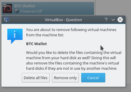 remove bitcoin wallet