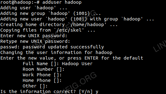 Add New User for Hadoop