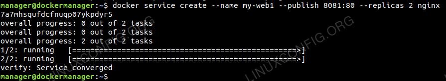Deploy Nginx Service on Swarm Cluster