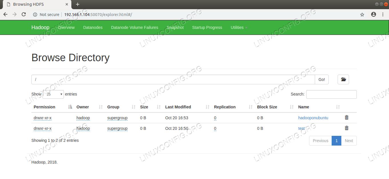 HDFS Directory Browsing via Namenode Web User Interface