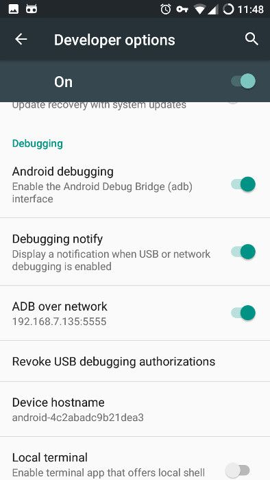 Android ADB enabled