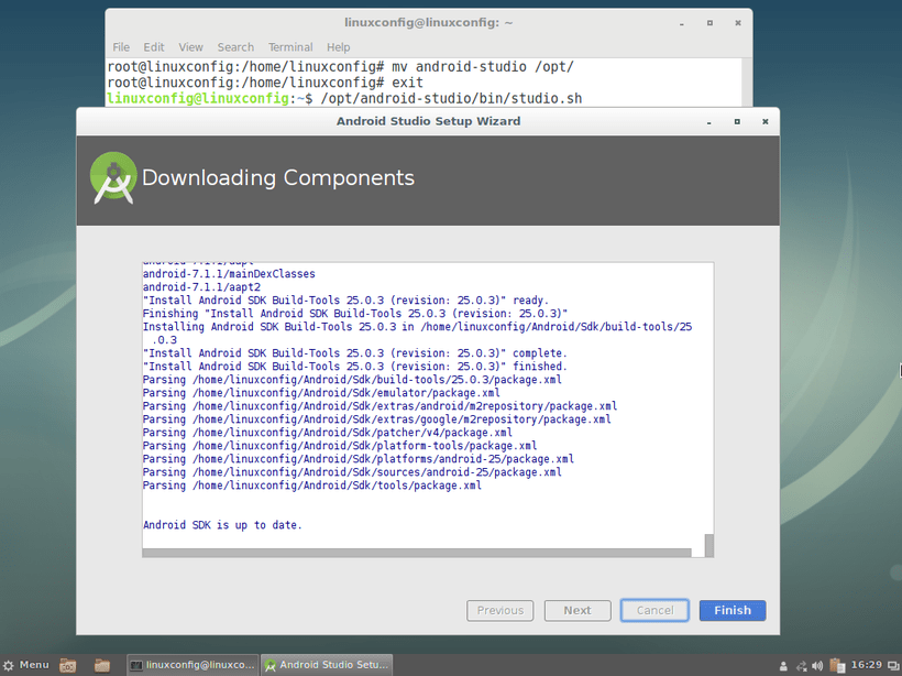 Android Studio installation Complete