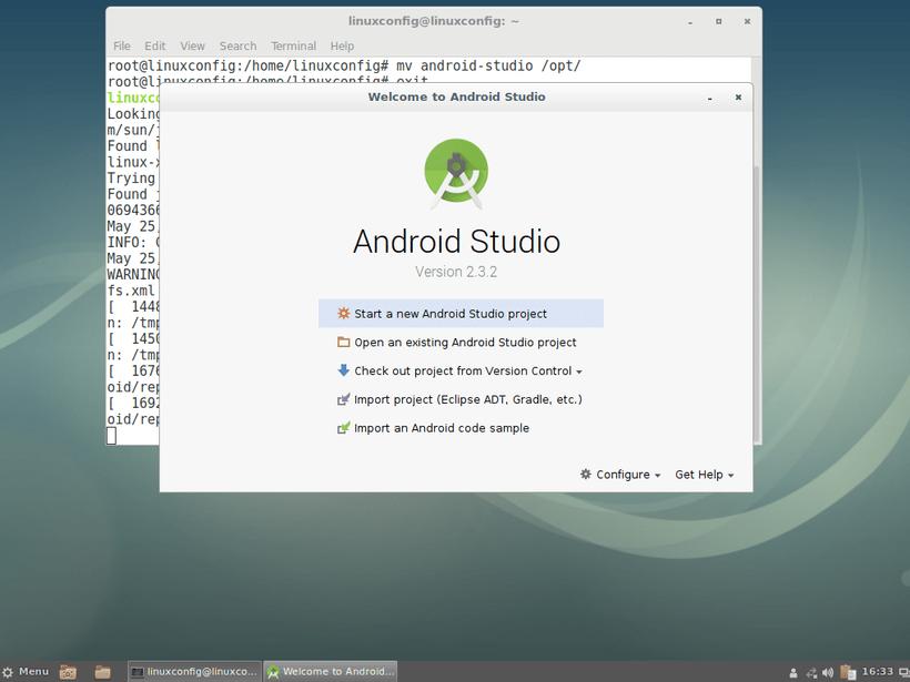 Start Android Studio