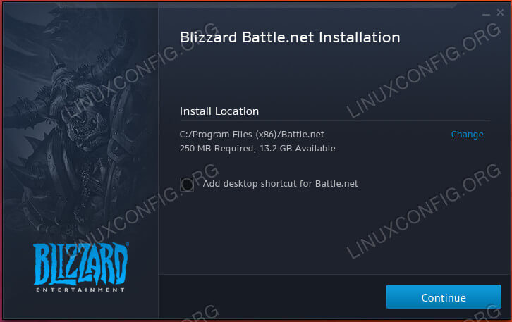 Start The Battle.net Install