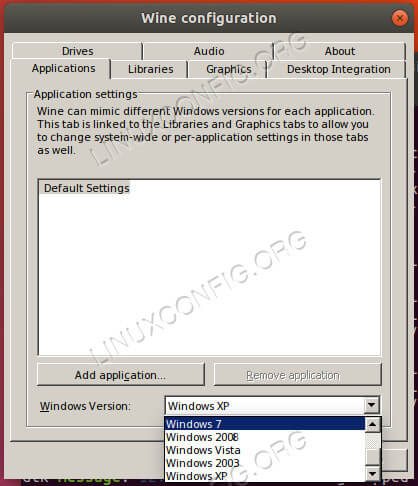 Set Wine Windows Version To Windows 7
