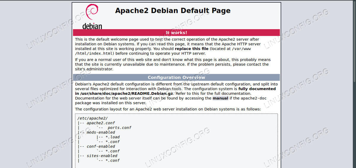 Apache on Debian 10
