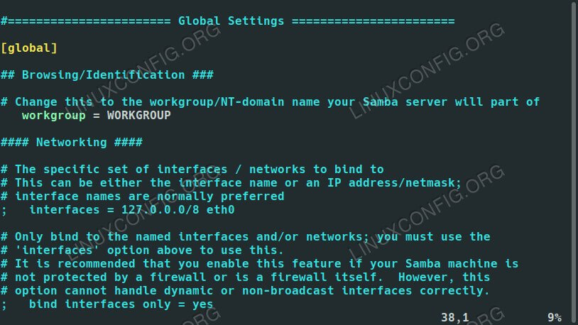 Samba Settings on Debian 10
